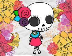 Dibujo de MINI CATRINA pintado por Camila536 en Dibujos.net el día ...
