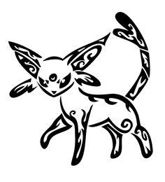 Of Kin by ELainaMain by Dark-Vulpes on DeviantArt Tribal Drawings, Tribal Tattoos, Tribal Symbols, Pokemon Tattoo, Pokemon Eeveelutions, Animal Crossing Game, Silhouette Cameo Projects, Cricut Creations, Cricut Vinyl