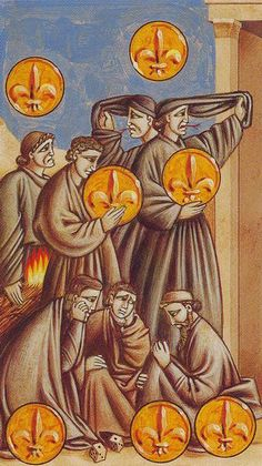 Seven of Coins - Giotto Tarot by Guido Zibordi