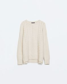 zara - mixed knits sweater in sand/marl