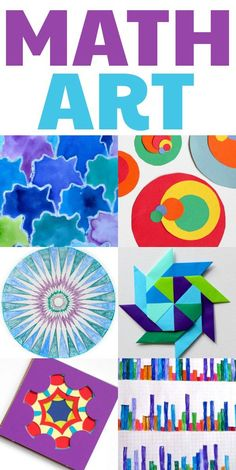 math art projects for kids. Home or classroom. Clever ideas here.Cool math art projects for kids. Home or classroom. Clever ideas here. Math Art, Fun Math, Math Games, Maths, Kids Math, Cool Math For Kids, Puzzle Games, Kids Fun, Math Projects