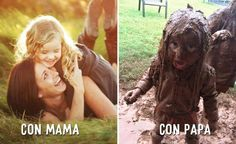 Photos Illustrating How PaPa And MaMa Act Differently! 12 Best Mama vs Papa Moments while Taking Care of Their Kids. Parenting Styles, Parenting Humor, Got Memes, Funny Memes, Jokes, Best Funny Pictures, Funny Photos, Game Of Thrones Quotes, Mother And Father