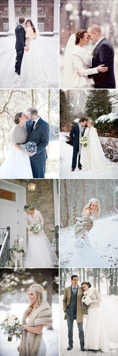 cozy and warm accessories for winter bridal wedding dress #WinterWeddingIdeas