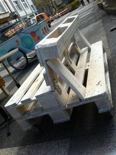 Mejores 161 im genes de muebles hechos con palets en - Muebles de jardin hechos con palets ...