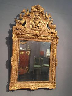 French Fine 18th Century Mirror, Provence Louis XIV Period Provence Louis XIV period Circa 1700-1710. Height: 111 cm; Width: 61 cm