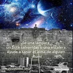 Frase de Rumi - Sé una lámpara