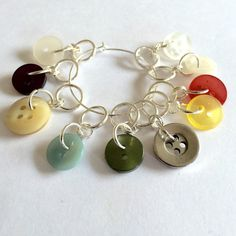 Vintage button knitting stitch markers  by JGjewellerycreations