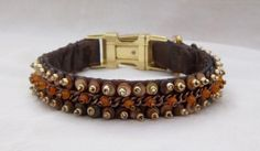 Items similar to Beaded Luxury Dog Collar in Shades of Bronze, Copper, and Gold, Renaissance Faire, Middle Earth on Etsy Luxury Dog Collars, Renaissance Fair, Bead Weaving, Crowd, Glass Beads, Bronze, Shades, Chain, Pets