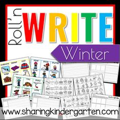 roll n write winter writing activities
