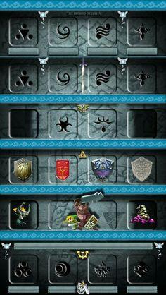 Zelda Shelf Wallpaper