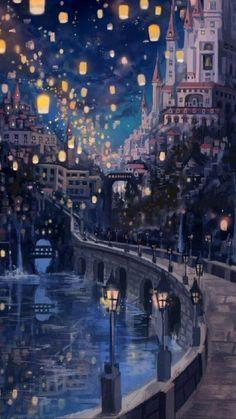 Anime Scenery Wallpaper, Cute Disney Wallpaper, Nature Wallpaper, Wallpaper Backgrounds, Tangled Wallpaper, Beautiful Wallpaper, Kawaii Wallpaper, Galaxy Wallpaper, Forest Wallpaper
