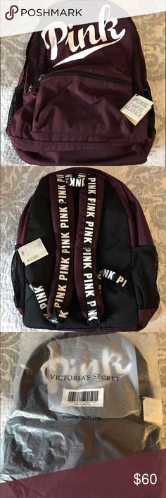 NWT Victoria's Secret Pink Backpack color-Orchid NWT & still in bag ,taken out 2 get real pic to post, in the popular sold out Maroon or Orchid , this backpack is from the Ultimate Campus line , from a smoke free home. PINK Victoria's Secret Bags Backpacks