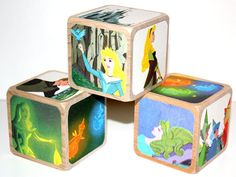 Sleeping Beauty Children's Wooden Baby Blocks  by Booksonblocks, $17.00
