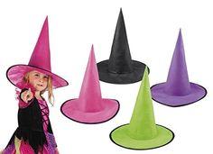 Cappello strega halloween colorati bambina