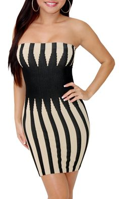 Final Try (Cream/Black)-Great Glam is the web's best online shop for trendy club styles, fashionable party dresses and dress wear, super hot clubbing clothing, stylish going out shirts, partying clothes, super cute and sexy club fashions, halter and tube