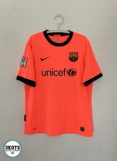 b8e878fb543 BARCELONA FC 2009 10 Away Football Shirt (L) Soccer Jersey NIKE Vintage  Maglia