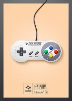 Super Nintendo Controller Poster -Quentin Fevre