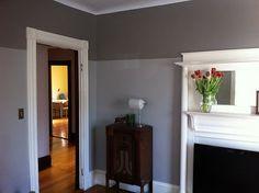 two-toned gray wall. good idea.