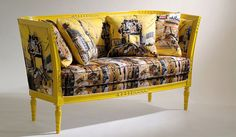 Versace Home - Sofas... Lacquered wood frame with handicarvings. Polyurethane foam upholstery. Available in fabrics and leathers from the collection.