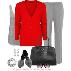 Red and Gray, created by fiftynotfrumpy on Polyvore