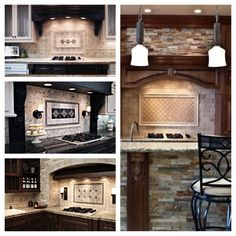 interesting idea to have that tile within the chimney hood space?