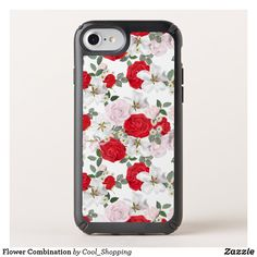 Flower Combination Speck iPhone SE/8/7/6s/6 Case Rose Background, Bright Background, Flower Patterns, Flower Designs, Technology Gifts, Speck Cases, Different Flowers, Tech Gifts, 6 Case
