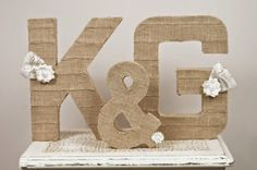 Burlap letter initials wedding display - Chicago Made Inspiration - Chicago Small Weddings and Elopements Wedding Crafts, Diy Wedding, Rustic Wedding, Dream Wedding, Wedding Ideas, Handmade Wedding, Wedding Colors, Burlap Letter, Burlap Monogram