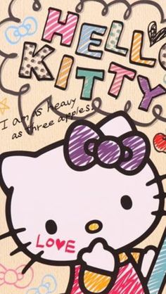 Kitty and like OMG! get some yourself some pawtastic adorable cat shirts, cat socks, and other cat apparel by tapping the pin! Hello Kitty Backgrounds, Hello Kitty Wallpaper, Kawaii Wallpaper, Hello Kitty Pictures, Hello Kitty Collection, Sanrio Hello Kitty, Little Twin Stars, My Melody, Cute Wallpapers