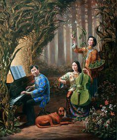 Michael Cheval, Edwin Tan's Family Portrait - Pinterest