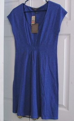 "Tommy Bahama Dress"" Arden Jersey Cap SLV, 5874-Bold Blue-XS (2),New With Tags #TommyBahama #JerseyCapSleeveDress #Casual"