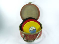 Retro Music Record Case Storage Box Mid by KarensChicNShabby