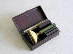 Vintage Gem Safety Razor Brass Micromatic Brown by veraviola, $15.00