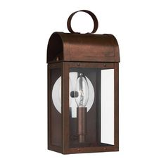 Sea Gull Conroe Weathered Copper Outdoor Wall Light | 8514801-44 | Destination Lighting