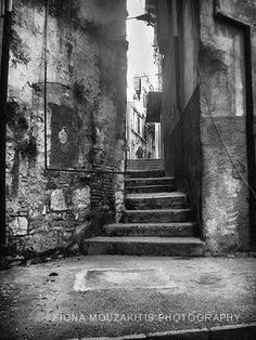 SIDE STREET. Small side street. Corfu town Corfu Greece Black And White Google, Black N White, Corfu Town, Corfu Greece, Black And White Photography, Island, Street, Beautiful, Google Search
