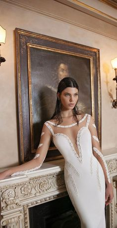 """If the words """"gorgeous long sleeve wedding dress"""" set your heart racing, you're in for a treat. Find your perfect long-sleeve wedding dress! to inspire your own gown, a timeless trend that wo… Wedding Dress Sleeves, Long Sleeve Wedding, Wedding Gowns, Amazing Dresses, Nice Dresses, Formal Dresses, Simple Gowns, Fashion Sewing, Girls Dream"""