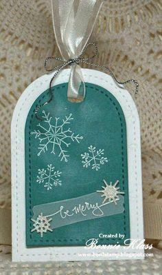 Stamping with Klass: Snowflake Tag
