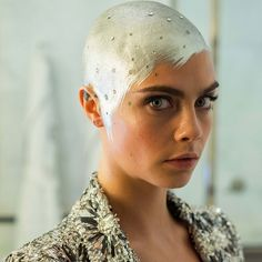 Cara Delevingne Shares an Exclusive Look at Her Futuristic Met Gala Beauty