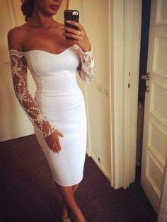Bridal shower or rehearsal dinner dress Lace Dress, Dress Up, White Dress, Bodycon Dress, White Lace, Engagement Party Dresses, Rehearsal Dinner Dresses, Glamour, Designer Dresses