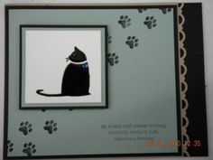 Stampin' Up! C is for Cat. Kitty Sympathy