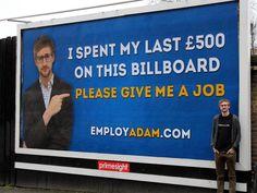 If he wants a job in marketing or sales, he's a winner!