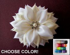 Bridal Fascinator, Wedding Headpiece, Bridal Hair Flower, Wedding Fascinator, Kanzashi Flower, Choose Color  $25