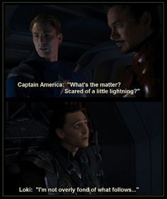 Love this line from Avengers!!