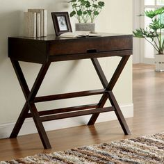Fold down writing desk I want to use as a nightstand in Master bedroom