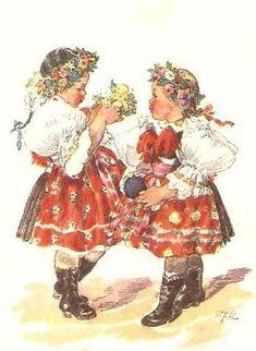 Vintage Pictures, Vintage Images, Illustrator, Folk Clothing, Gif Animé, Children Images, Illustrations And Posters, Vintage Paper, Vintage Children