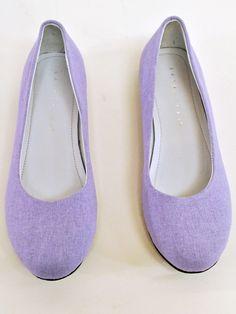 Lavender Linen Ballet Flats