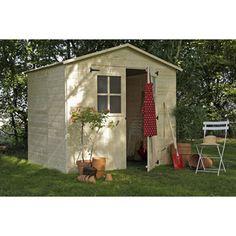 Abri bois à toit plat Durapin. http://www.m-habitat.fr/abri-de ...