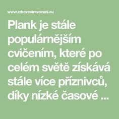 Plank je stále populárnějším cvičením, které po celém světě získává stále více příznivců, díky nízké časové náročnosti Math Equations