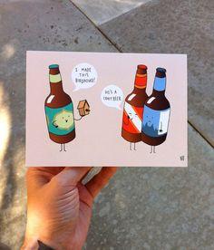 Craft Beer Greeting Card