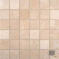 "MS International Crema Marfil Marble Mosaic 12"" x 12"" : SMOT-CREM-2X2-P $9.99"