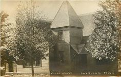 Michigan, MI, Sheridan, Opera House Early Real Photo Postcard